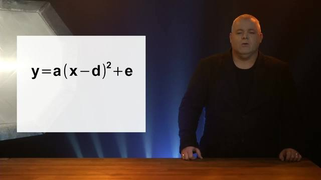 Scheitelpunktform y=a(x-d)²+e