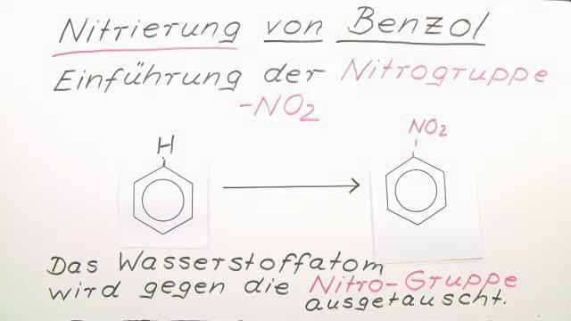 Nitrierung von Benzol