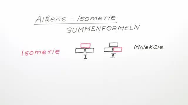 Alkene – Isomerie
