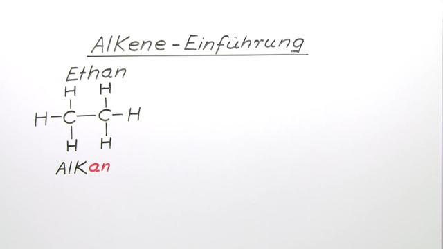 Alkene – Einführung