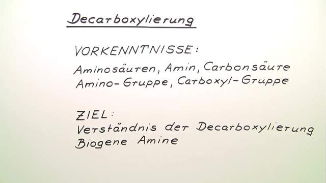 Decarboxylierung