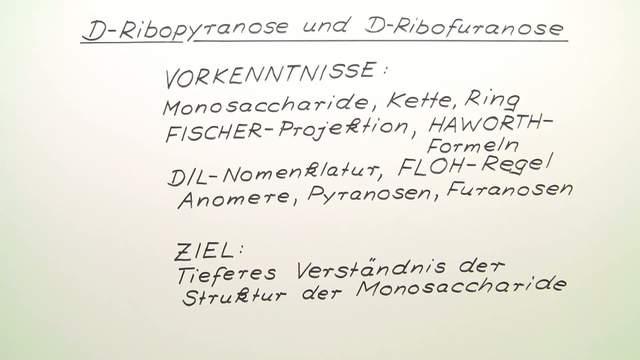 D-Ribopyranose und D-Ribofuranose