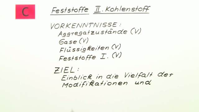 Kohlenstoff – Modifikationen