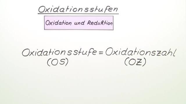 Oxidationsstufen