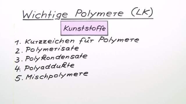 Wichtige Polymere (Expertenwissen)