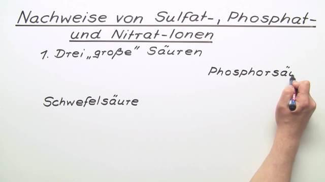 Nachweise von Sulfat-, Phosphat und Nitrat-Ionen