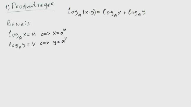 Logarithmusgesetze
