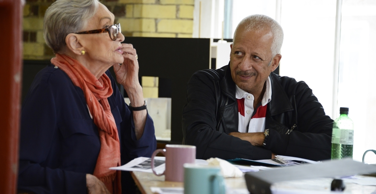 Sian Phillips as Daisy Werthan and Derek Griffiths as Hoke Colburn