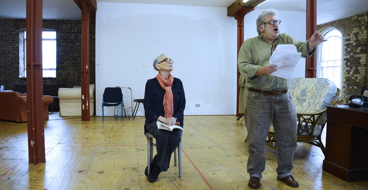 Sian Phillips as Daisy Werthan and Teddy Kempner as Boolie Werthan