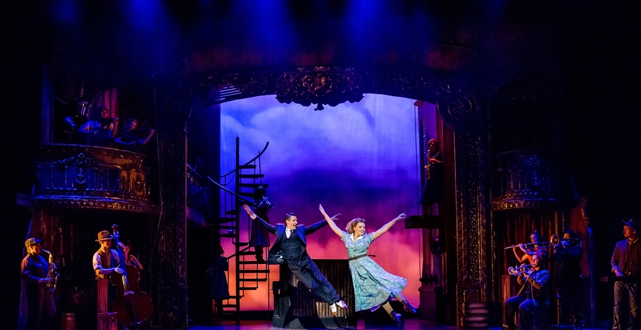 Tom Chambers 'Bobby' and Charlotte Wakefield 'Polly'. Photo by Richard Davenport