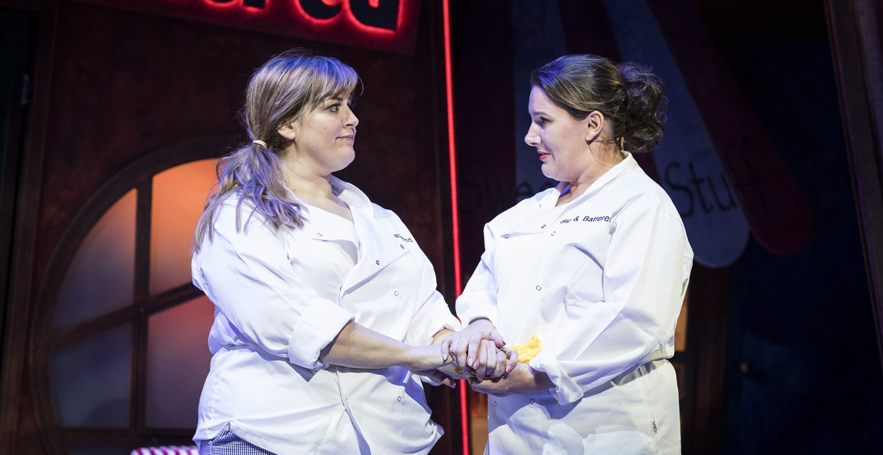 Jodie Prenger and Sam Bailey. Photo by Helen Maybanks