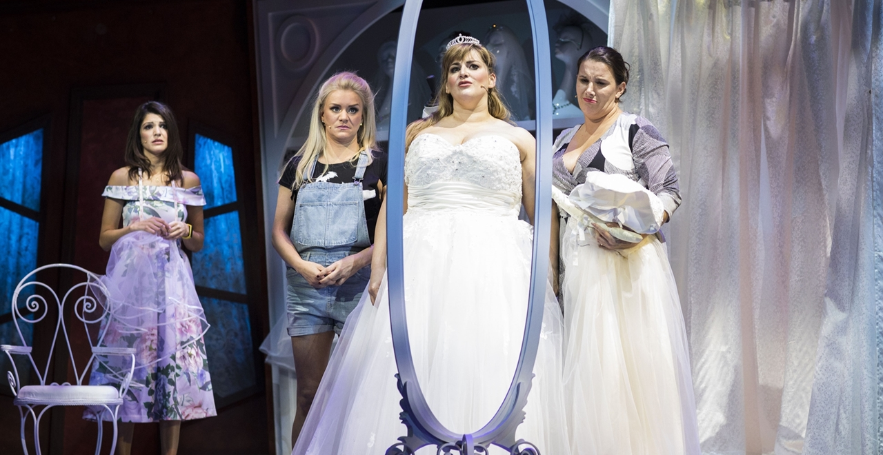 Natalie Anderson, Rachel Wooding, Jodie Prenger and Sam Bailey. Photo by Helen Maybanks