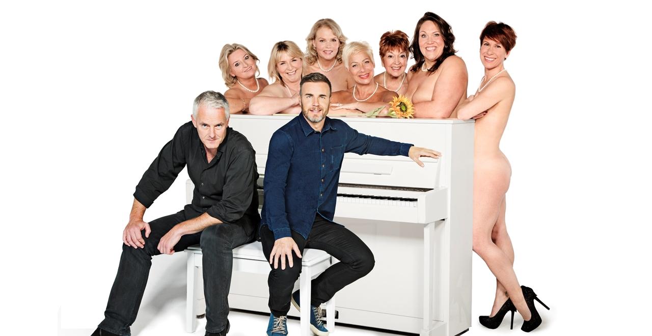 (Front L-R) Tim Firth & Gary Barlow. (Back L-R) Rebecca Storm, Fern Britton, Sara Crowe, Denise Welch, Ruth Madoc, Lorraine Bruce & Anna-Jane Casey