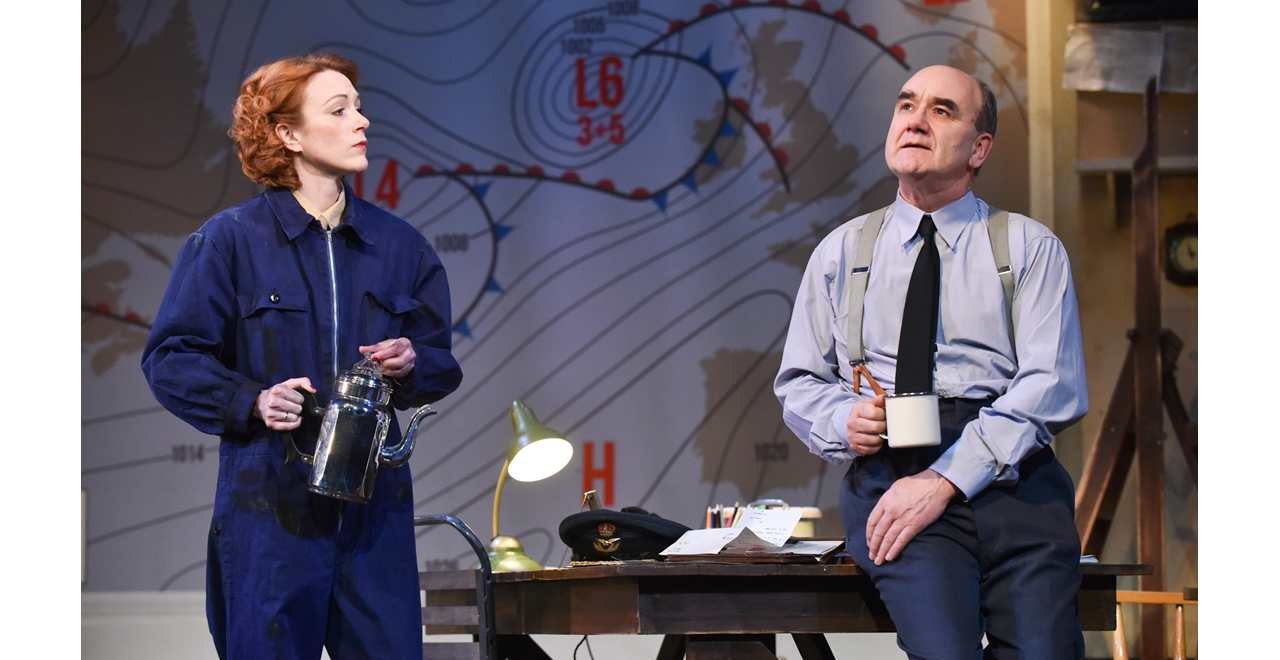 Laura Rogers as Kay Summersby and David Haig as Group Captain James Stagg