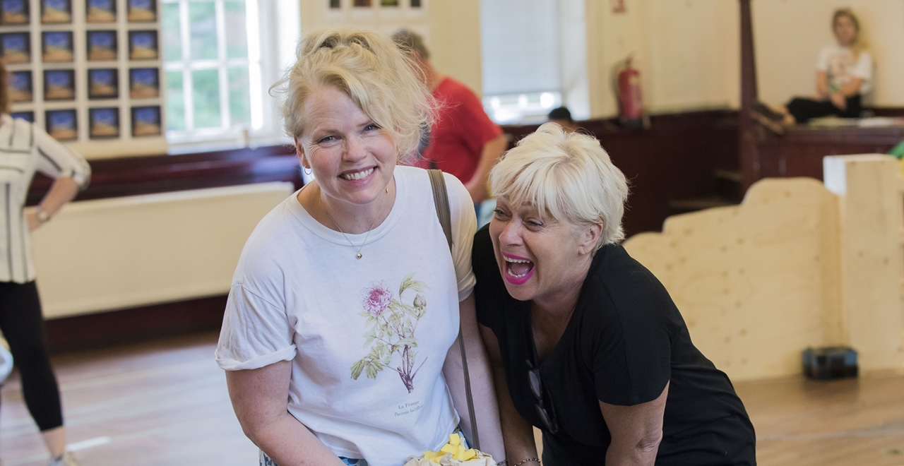 Sara Crowe & Denise Welch. Photo by Matt Crockett