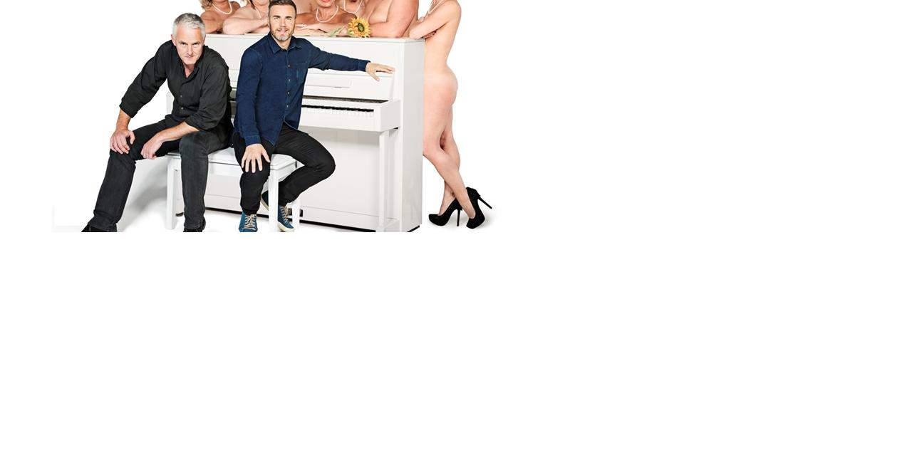 (Front L-R) Tim Firth & Gary Barlow. (Back L-R) Rebecca Storm, Fern Britton, Sara Crowe, Denise Welch, Ruth Madoc, Karen Dunbar & Anna-Jane Casey