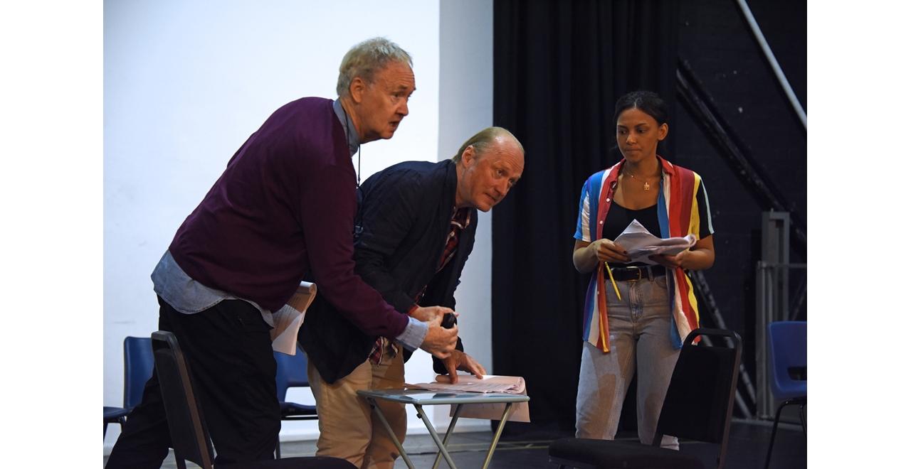 Nigel Planer, Ade Edmundson and Lois Chimimba