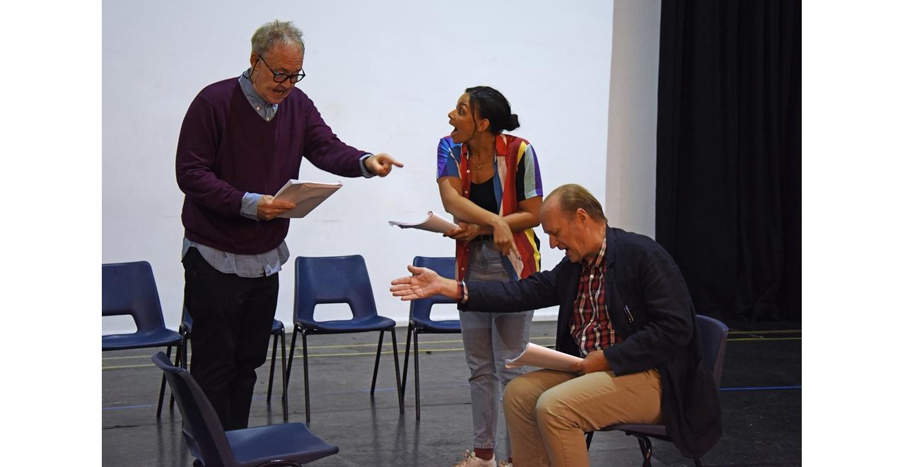 Nigel Planer, Lois Chimimba and Ade Edmundson