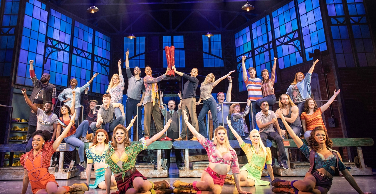 Cast of Kinky Boots. Photo by Helen Maybanks
