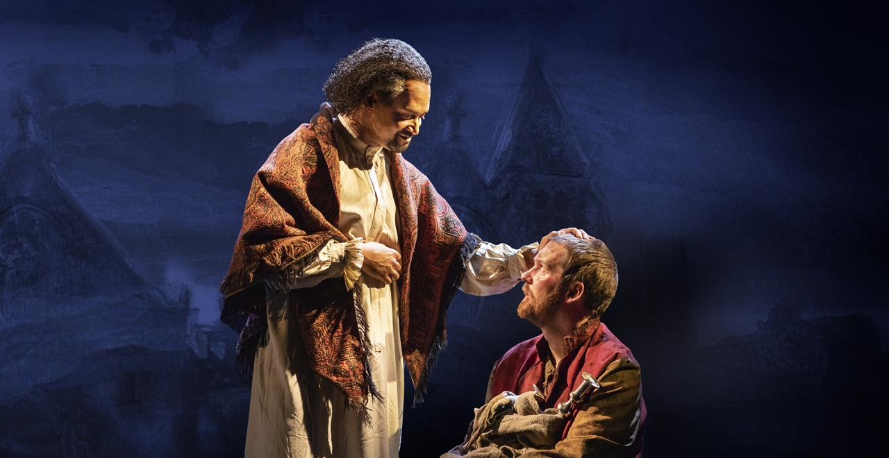 Les Misérables. Brian James Leys 'The Bishop' and Killian Donnelly 'Jean Valjean'