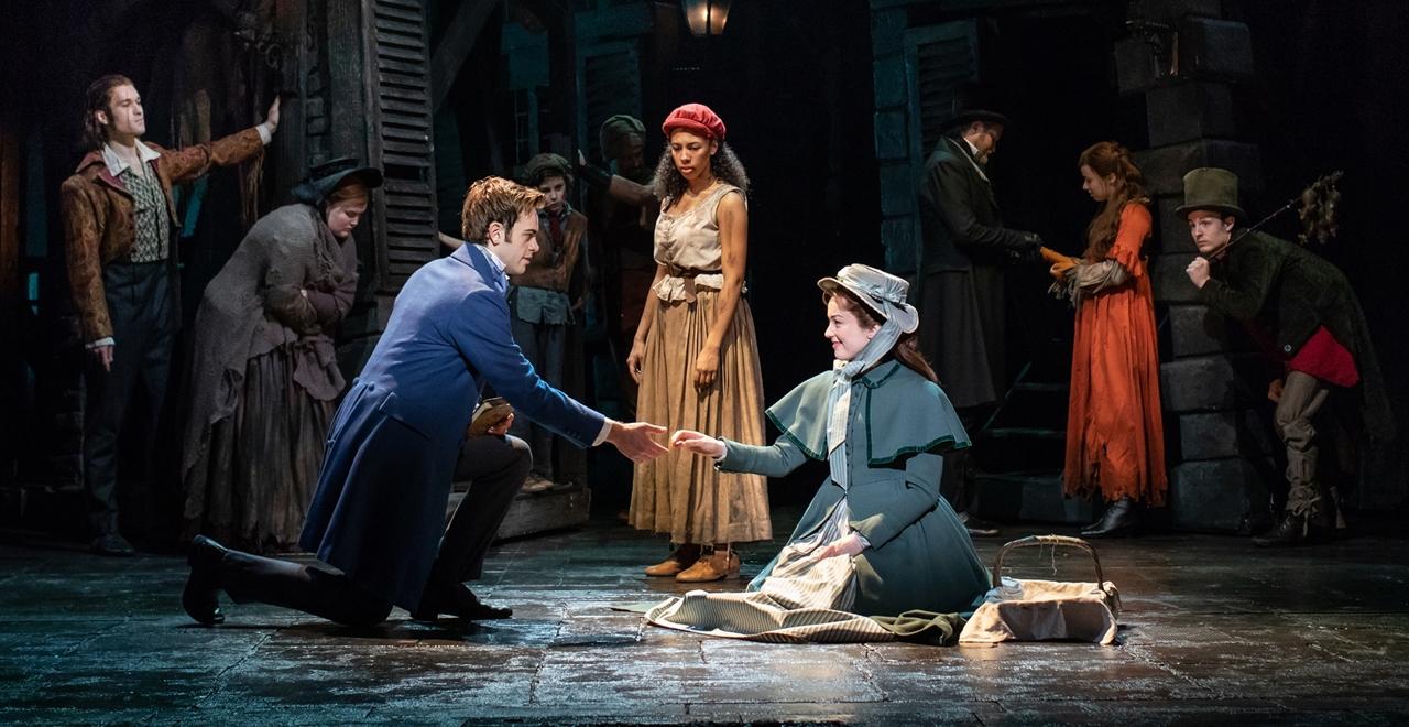 Les Misérables. Harry Apps 'Marius', Tegan Bannister 'Eponine' and Bronwen Hanson 'Cosette'
