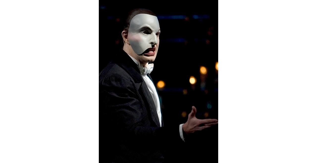 Earl Carpenter The Phantom of the Opera, Earl Carpenter as The Phantom. Photo © Clive Barda