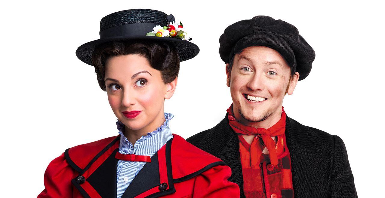 Zizi Strallen as Mary Poppins and Matt Lee as Bert