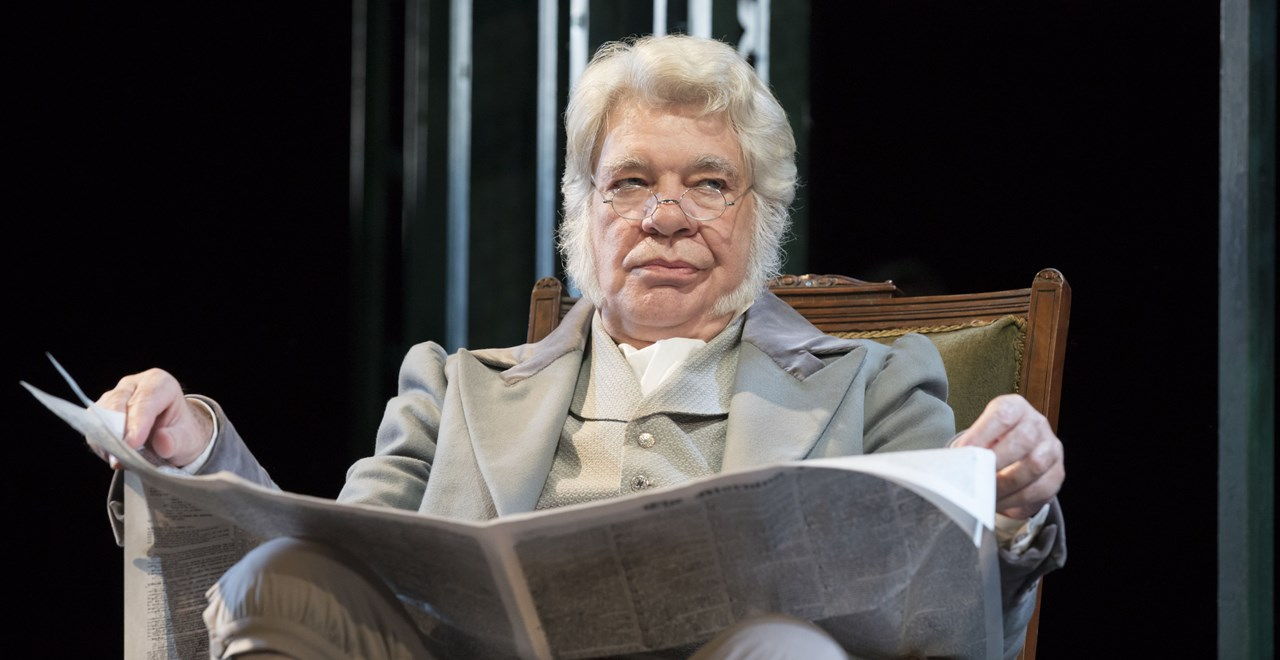 Matthew Kelly as Mr Bennet.  Photo Johan Persson