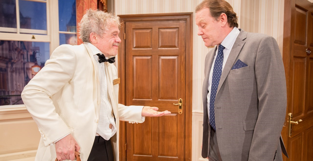 The Waiter (James Holmes) and Richard Willey (Jeff Harmer) cDarren Bell
