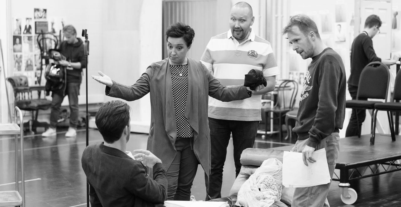 Sunset Boulevard in rehearsal