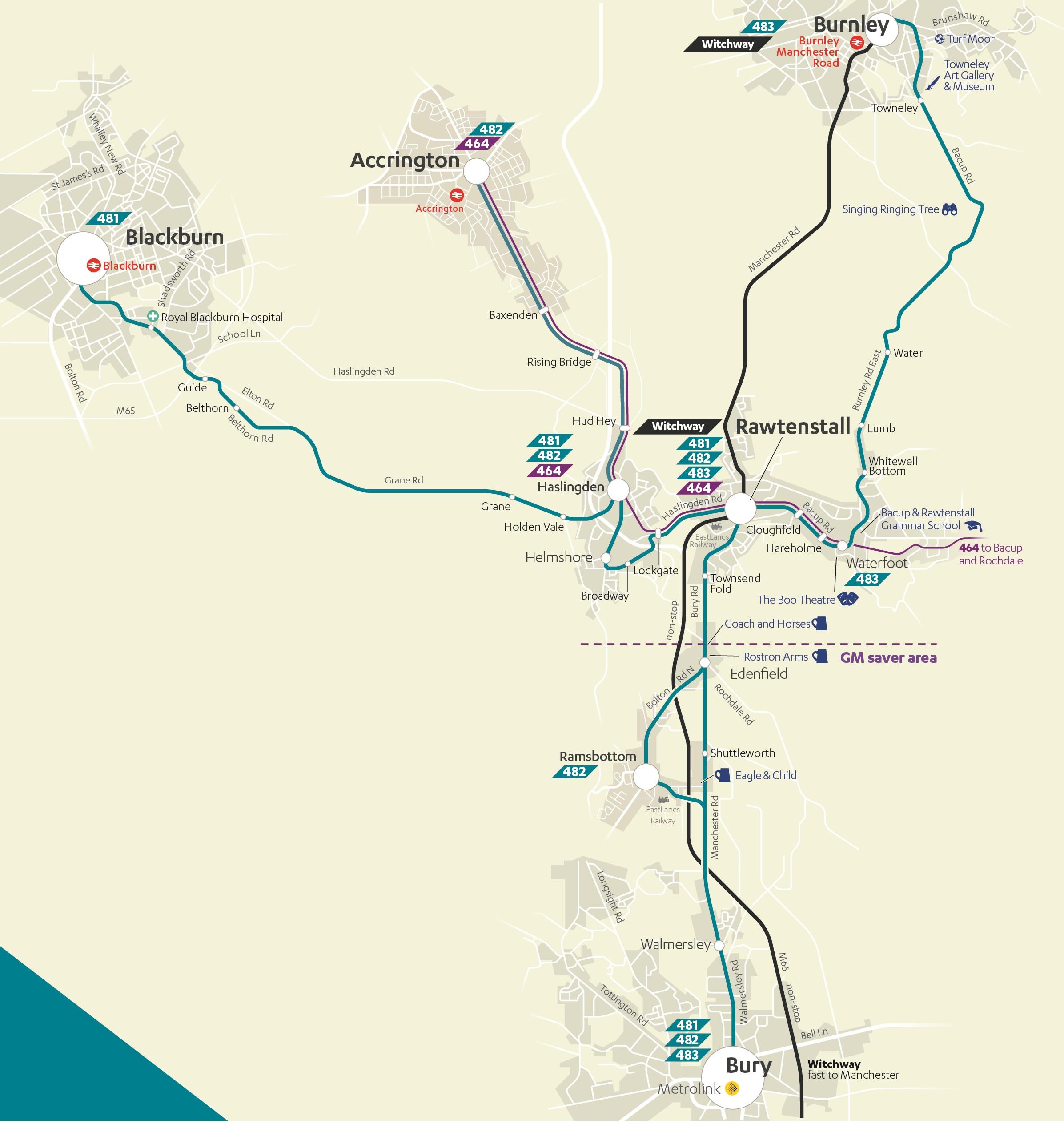 Irwell Line map
