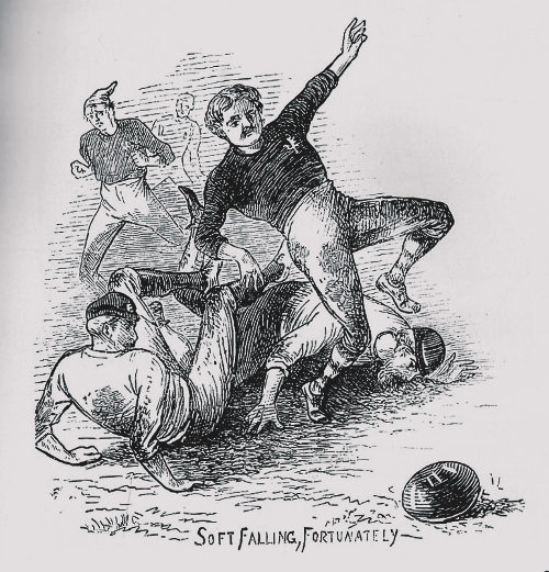 An early illustration of an England v Scotland clash