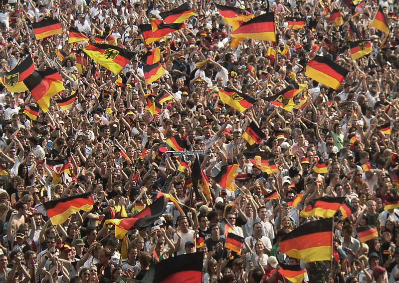 Germany fans supporting their country