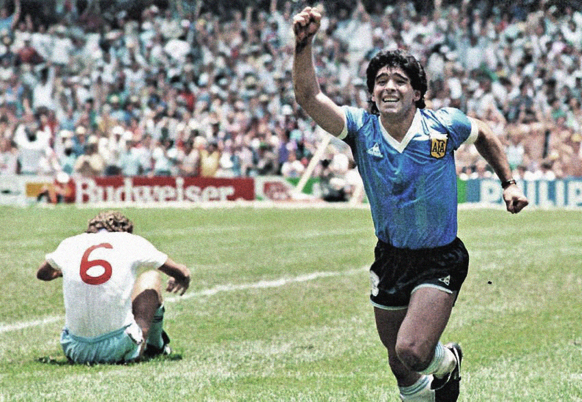 Maradona celebrates as England lose