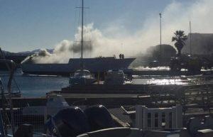 vaixell en flames