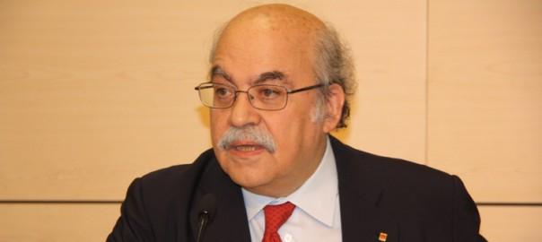 Andreu Mas-Colell, conseller d'Economia de la Generalitat de Catalunya.