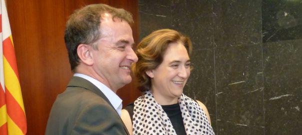 Ada Colau i Alfred Bosch en un acte institucional