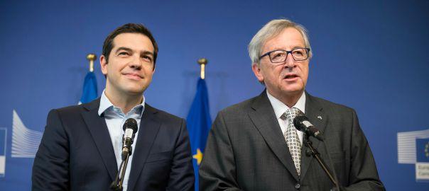 El primer ministre grec, Alexis Tsipras, i el president de la CE, Jean-Claude Juncker.