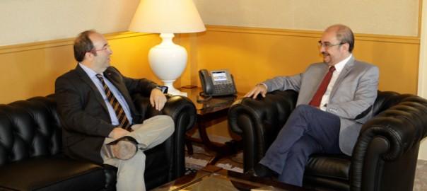 Miquel Iceta i Javier Lambán (Fotografia: socialistes.cat)