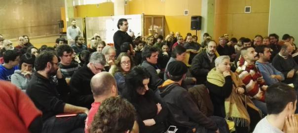 Una imatge de la reunió del consell polític de la CUP (Foto: Twitter CUP Barcelona)