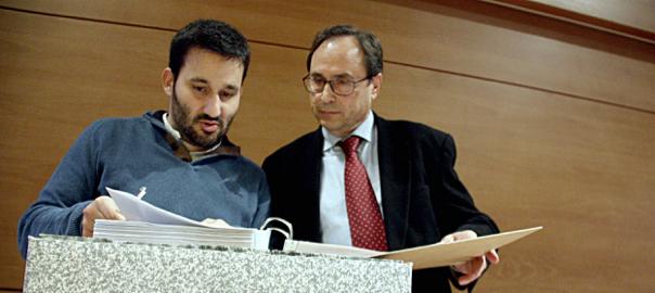 El conseller d'Educació, Vicent Marzà, i el d'Hisenda, Vicent Soler.