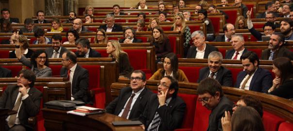 El ple del Parlament de Catalunya, en una imatge d'arxiu