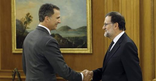 EL REY RECIBE AL PRESIDENTE EN FUNCIONES, MARIANO RAJOY