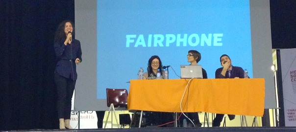 Presentació del Fairphone al Mobile Social Congress 2016.