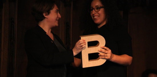 Najat El Hachmi rep el Premi Ciutat de Barcelona