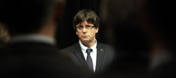 Carles Puigdemont durant la recepció del cos consular al Palau de la Generalitat (fotografia: ACN).