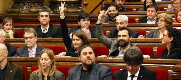 JxSí s'ha dividit en les votacions sobre la reforma laboral (10/03/2016).
