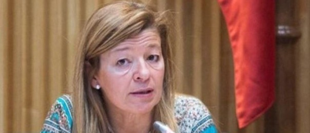 Ana Garido durant una compareixença (fotografia: Europa Press)