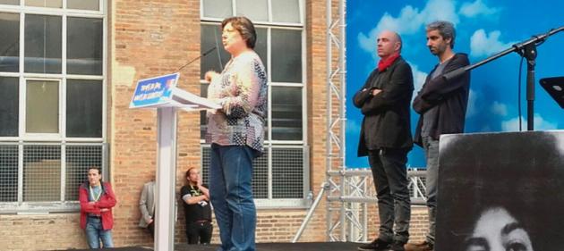 Gabriela Serra, Lluís Llach i Jordi Armadans.