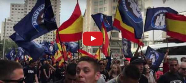 Manifestació feixista a Madrid vídeo